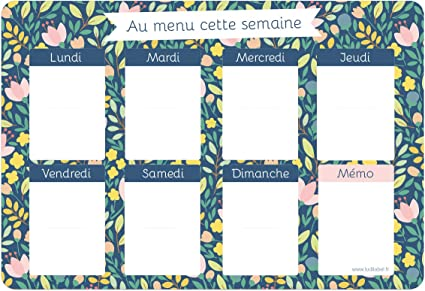 Planning Semaine Menu Flowers Par Ludilabel Menu