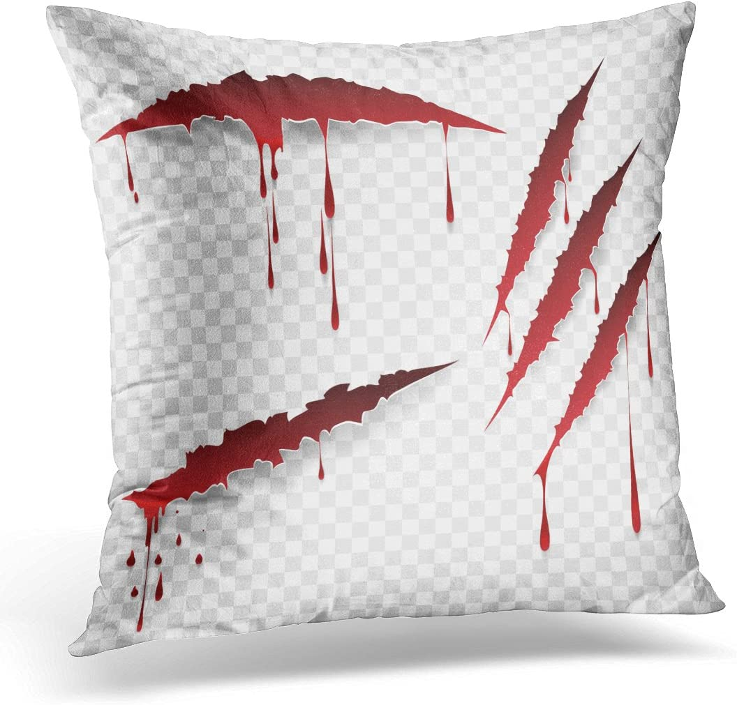 Sdamase Throw Pillow Cover Red Claw