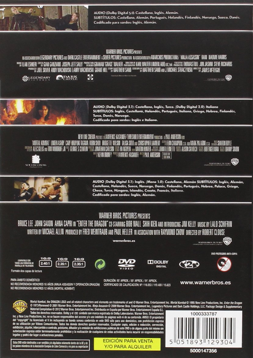 Triple Pack: Ninja Assassin + Mortal Kombat + Enter The ...