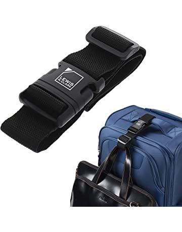 c49317fb6 Lewis N. Clark Add-A-Bag Travel Luggage Strap, Black, One