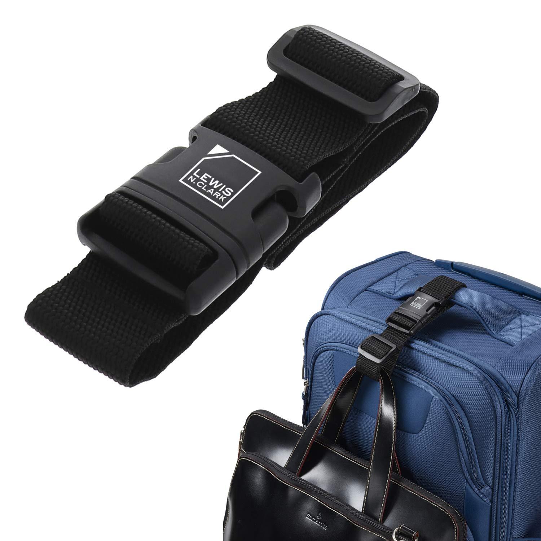Lewis N. Clark Add-A-Bag Travel Luggage Strap, Black, One Size