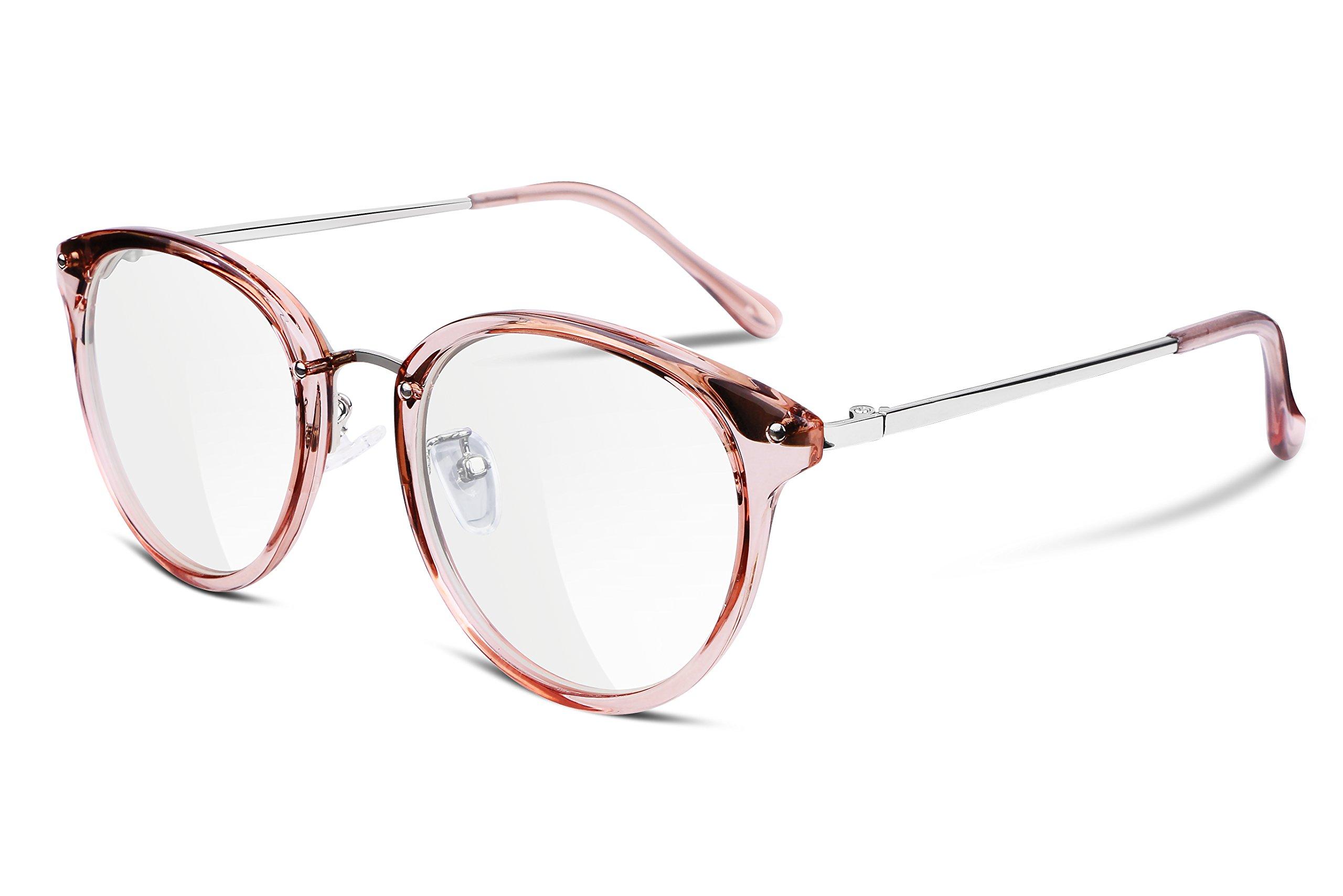 FEISEDY Vintage Round Eyewear Non Prescription Glasses Frames Women Men B2260