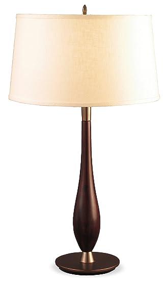 Lighting Enterprises Teardrop Table Lamp, Vintage Mahogany
