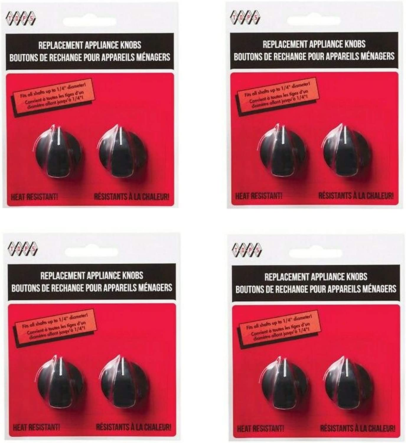 Tops 55713 Fitz-All Replacement Appliance Knobs, Set of 2, 4 Pack