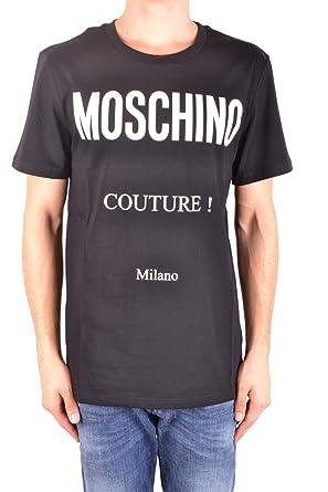 af6578f1e369 Moschino Herren MCBI214071O Schwarz Baumwolle T-Shirt  Amazon.de ...