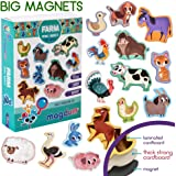 MAGDUM FARM animal magnets -real LARGE fridge magnets for toddlers- Magnetic EDUcational toys baby 3 year old baby…