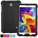 Samsung Galaxy Tab 4 7.0 Case - Poetic [Turtle Skin Series] - [Corner/Bumper Protection] [Grip] [Sound-Amplification] Protective Silicone Case for Samsung Galaxy Tab 4 7.0 Black