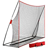 Yaheetech 10' x 7' Portable Golf Net and Metal Base Tubes, Practice Hitting Net with Carry Bag for Indoor Outdoor Use