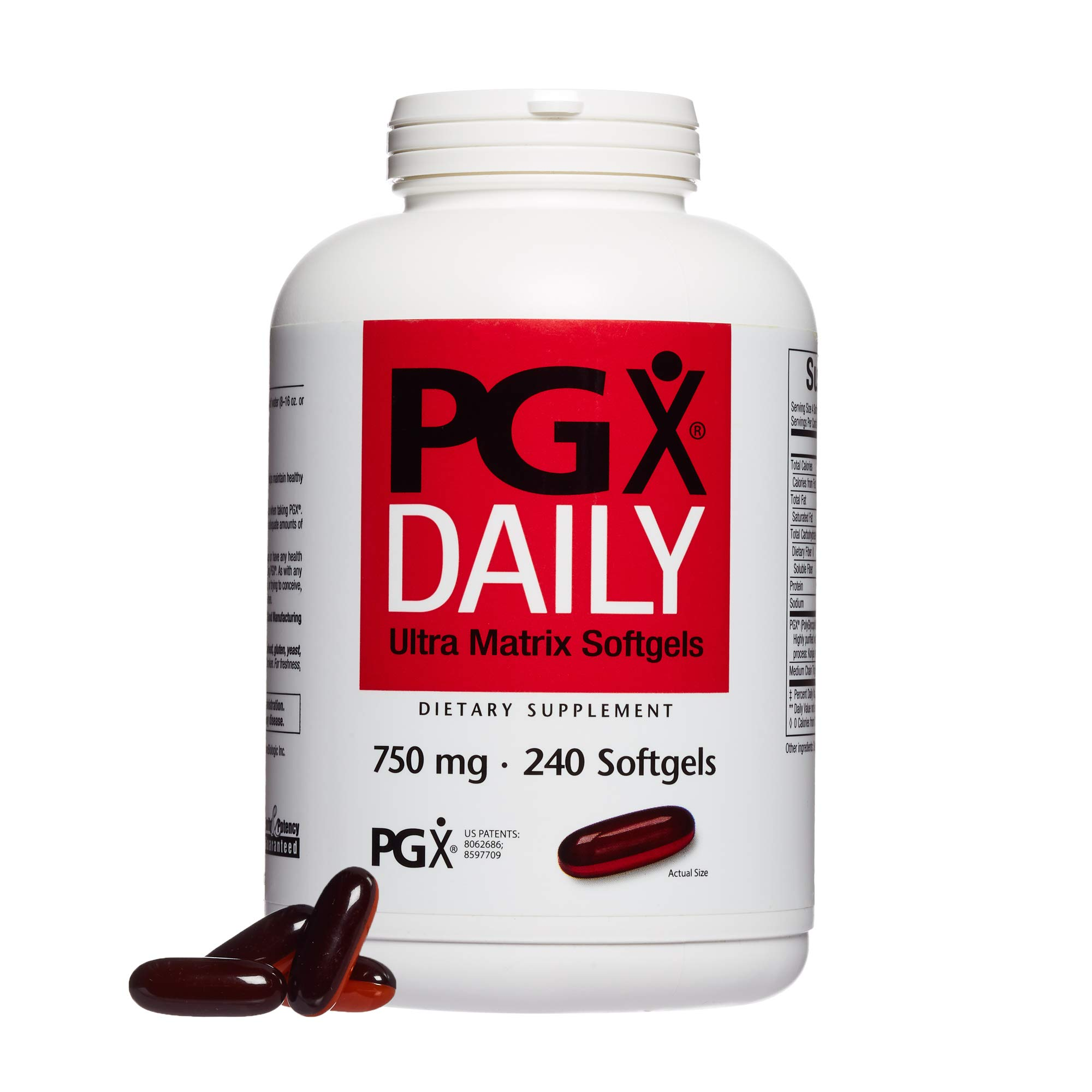 Natural Factors - PGX Daily Ultra Matrix 750mg, Daily Support for Appetite Control, 240 Soft Gels