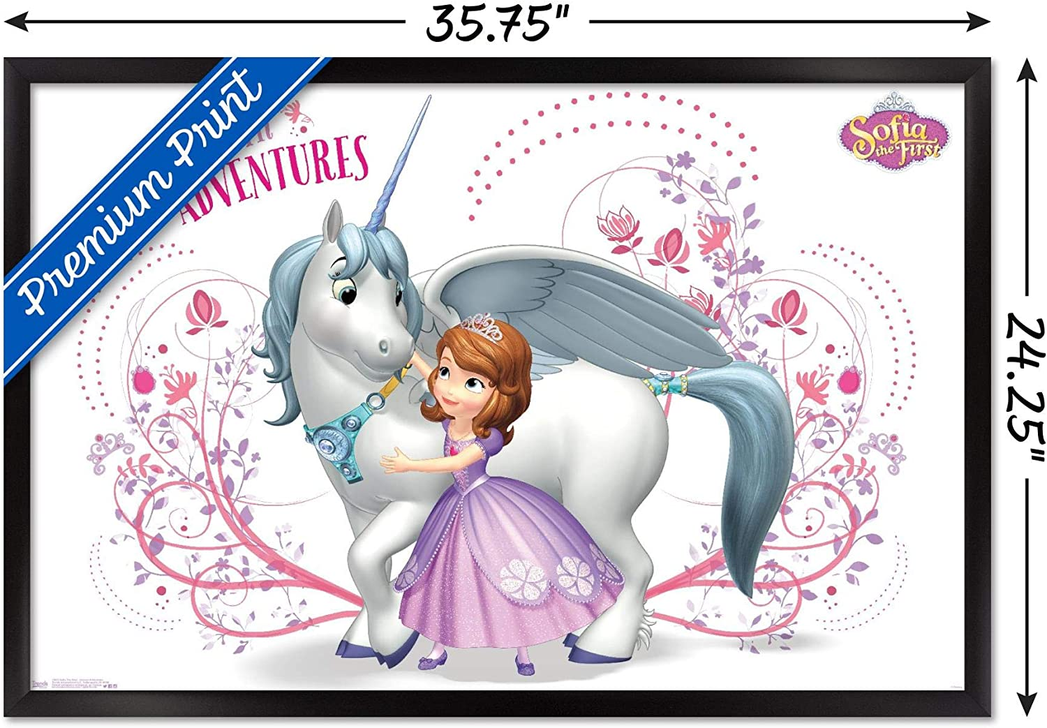 SOFIA /& HER CASTLE  POSTER PRINT VINYL WALL STICKER VARIOUS SIZES