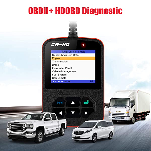Launch CReader HD Plus Heavy Duty Truck Diagnostic Scanner