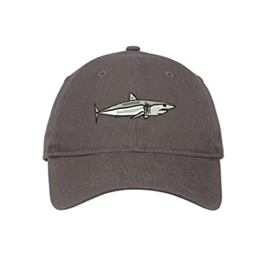 75c04807e352f Image Unavailable. Image not available for. Color  Mako Shark Baseball Hat  Embroidered Low Profile Unstructured Cap