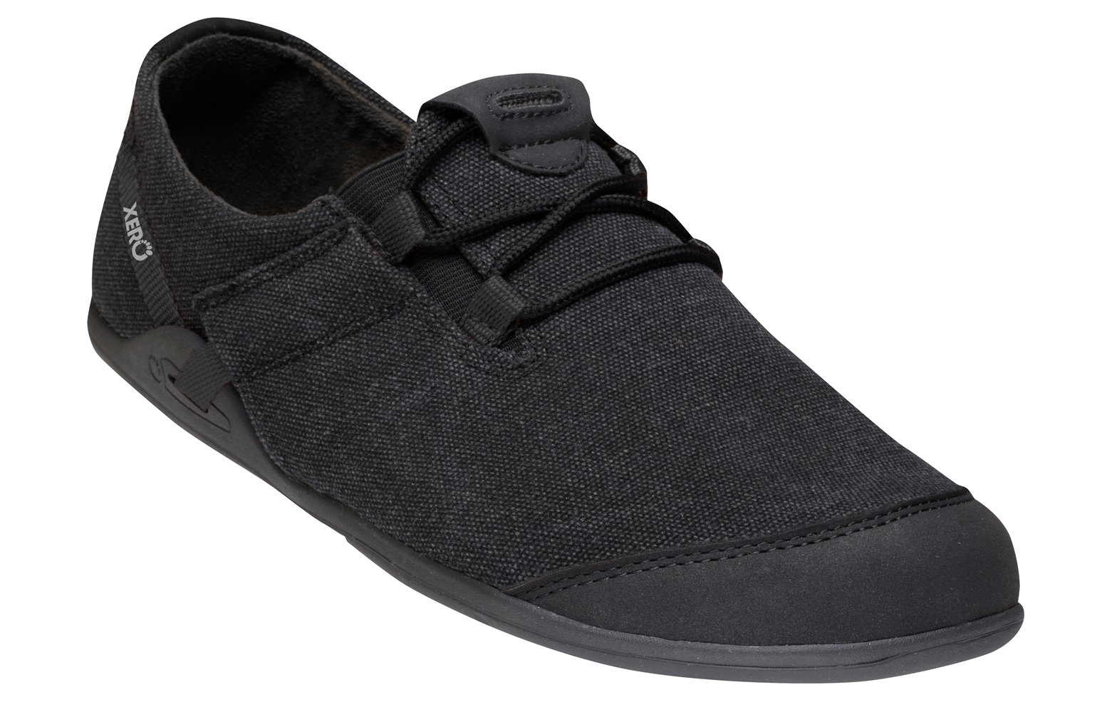 Xero Shoes Casual Canvas Barefoot-Inspired Shoe - Men's Hana,Black/Black,11 D(M) US