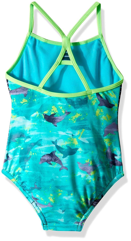Speedo Little Girls Diamond Geo Splice One Piece Swimsuit