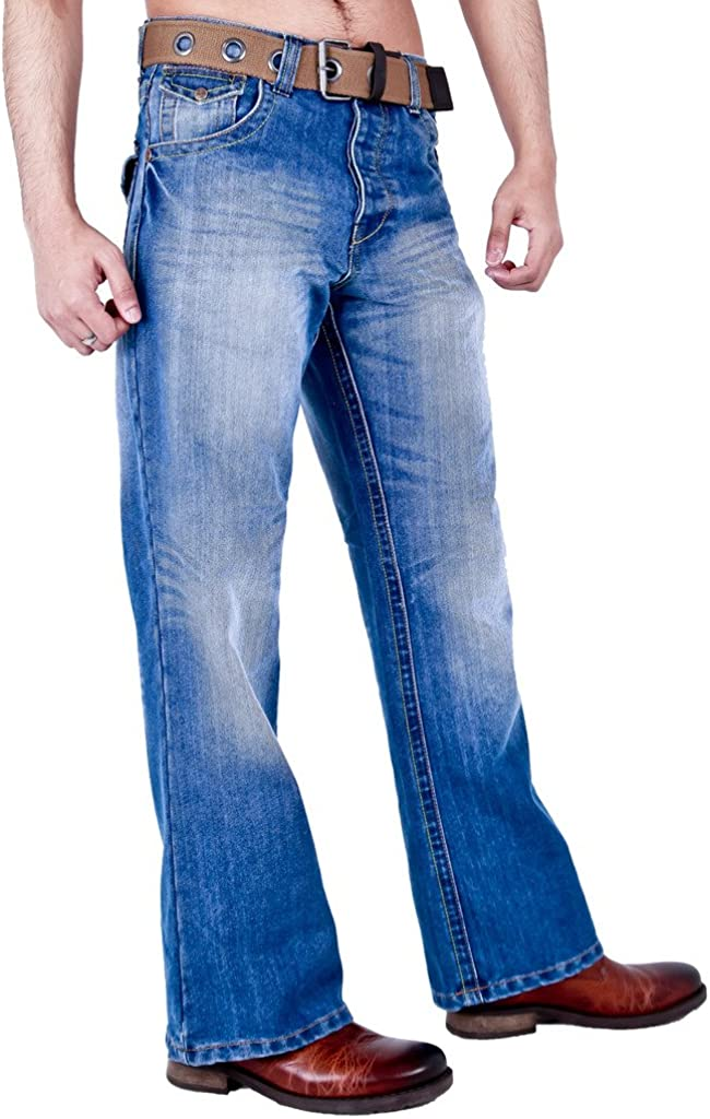 Arrested Development Mens Classic Bootcut Fit Jeans Darkwash Lightwash Grey /& Black