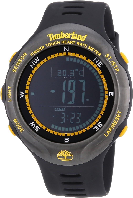 fe acortar Pertenece  Timberland Washington Summit Men's Watch with Black Dial Digital Display  and Black Silicone Strap 13386JPBU/02: Amazon.co.uk: Watches