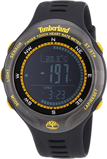 Timberland TBL.13386JPBU/02 - Reloj Digital de Cuarzo para Hombre con Correa de plástico, Color Negro