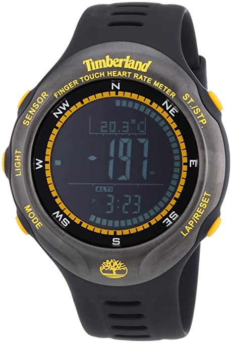Timberland TBL.13386JPBU/02 - Reloj digital de cuarzo para hombre con correa de plástico, color negro: Amazon.es: Relojes