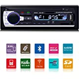 Fixget Car Radio with Bluetooth, In-Dash Single Din Car Stereo, Car MP3 MP5 Player USB/SD/AUX/FM with Wireless Remote Control