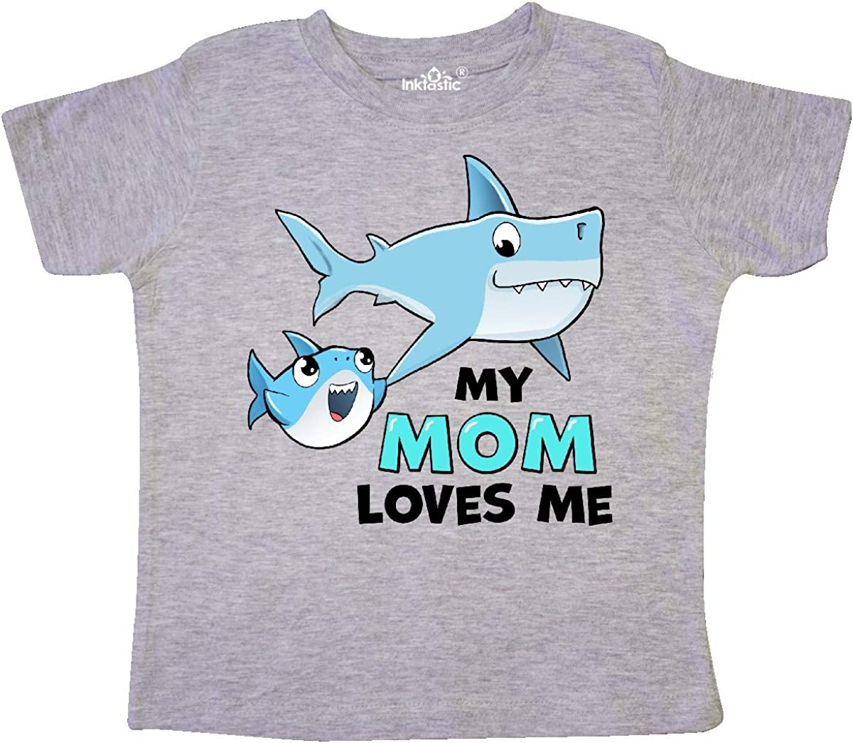 inktastic My Mom Loves Me with Cute Sharks Toddler T-Shirt