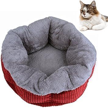 Mantas prácticas para mascotas Cama para gatos Cama de cama de corduroy suave y cálida con ...