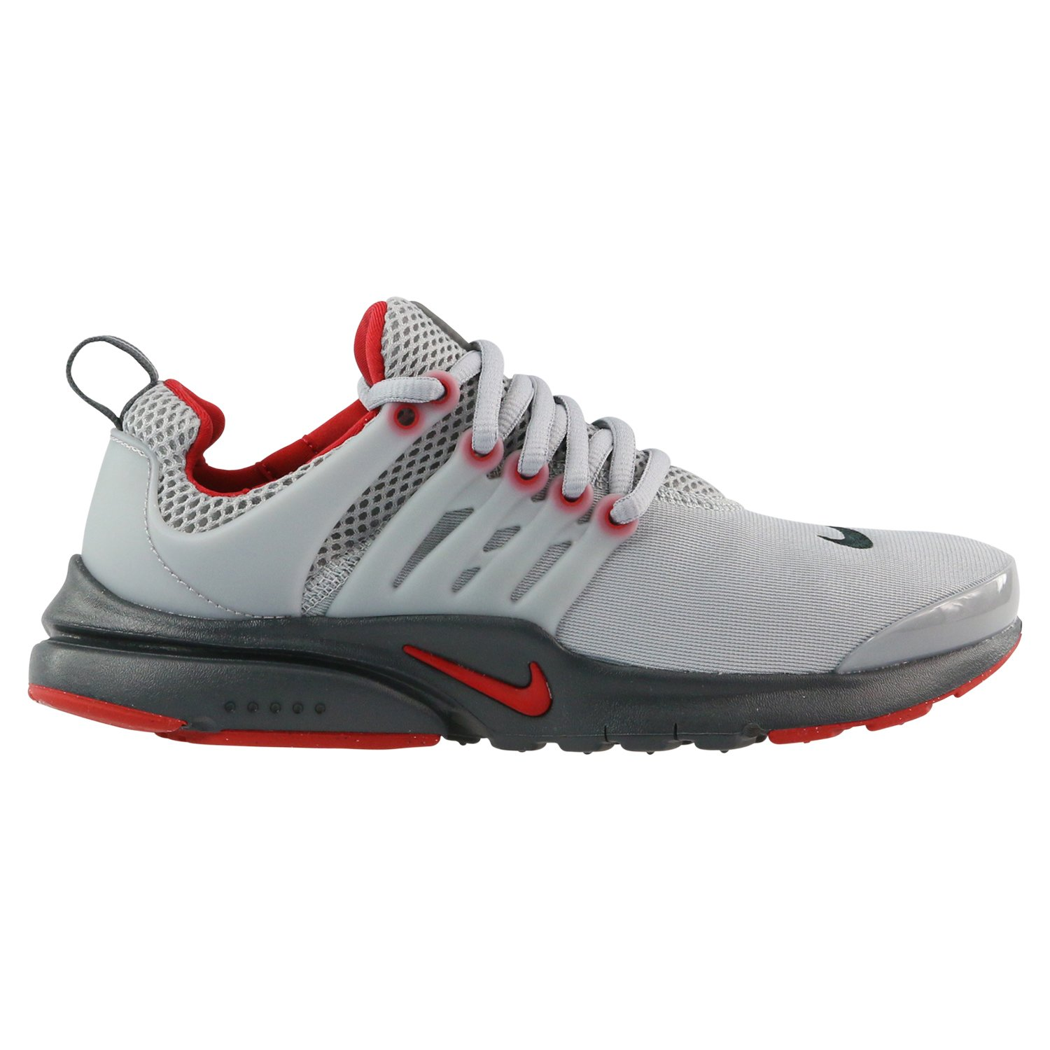 Nike Air Presto Youth Kids Traing Shoes Light Gray/Red