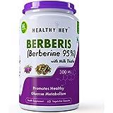 HealthyHey Nutrition Berberis (Berberine 95%) with Milk Thistle - 60 Vegetable Capsules - Pack of 1