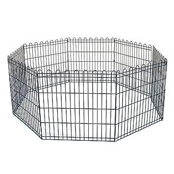 Reja Para Perros Gatos Cachorros Valla animales jaula 8 elementos 61 x 61 cm: Amazon.es: Productos para mascotas