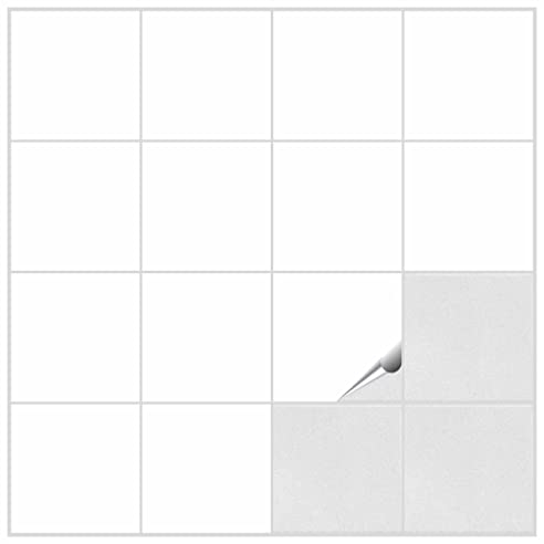 Fliesenaufkleber Für Bad Und Küche - 15X15 Cm - Weiss Glänzend