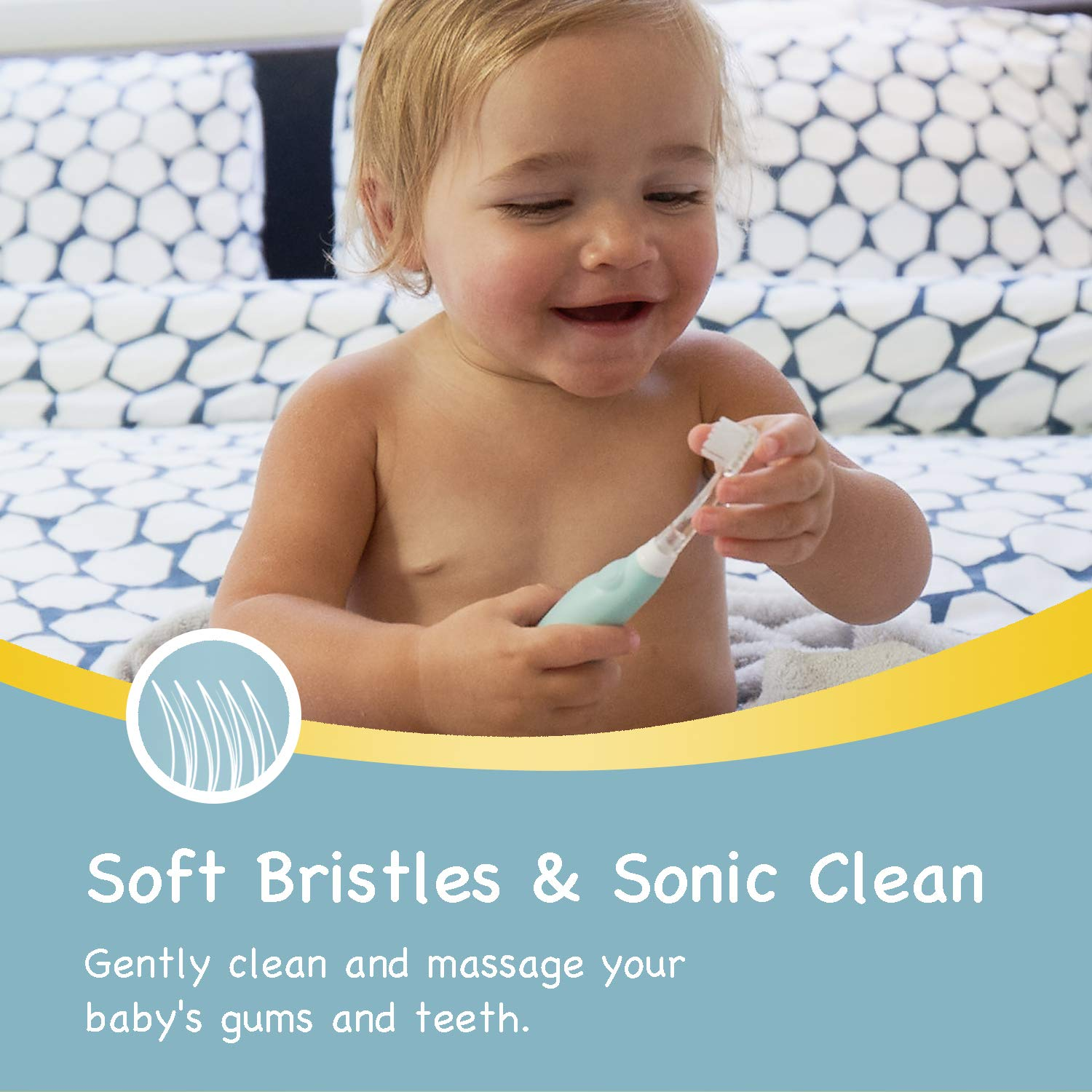 Papablic BabyHandy 2-Stage Sonic Electric Toothbrush for Babies and Toddlers Ages 0-3 Years by Papablic (Image #4)