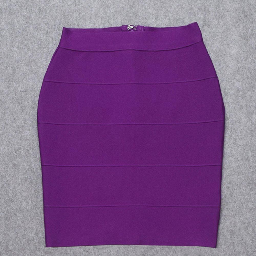 HLBandage Solid High Waist Mini Bandage Pencil Skirt