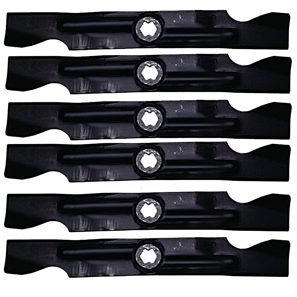 "6 Pack Stens 335-859 2-in-1 Mulching Blades for 50"" Deck MTD Cub Cadet Troy-BIlt Lawnmowers RZT-50 942-04053C"