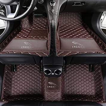 WHITE TRIM JAGUAR XE 2015 ON TAILORED CAR FLOOR MATS CARPET BLACK MAT