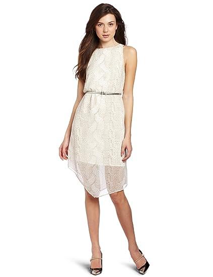 202e29ffa79 kensie Women s Cable Knit Chiffon Dress