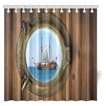 interestprint Maritimes Dekor Vorhang für die Dusche ...