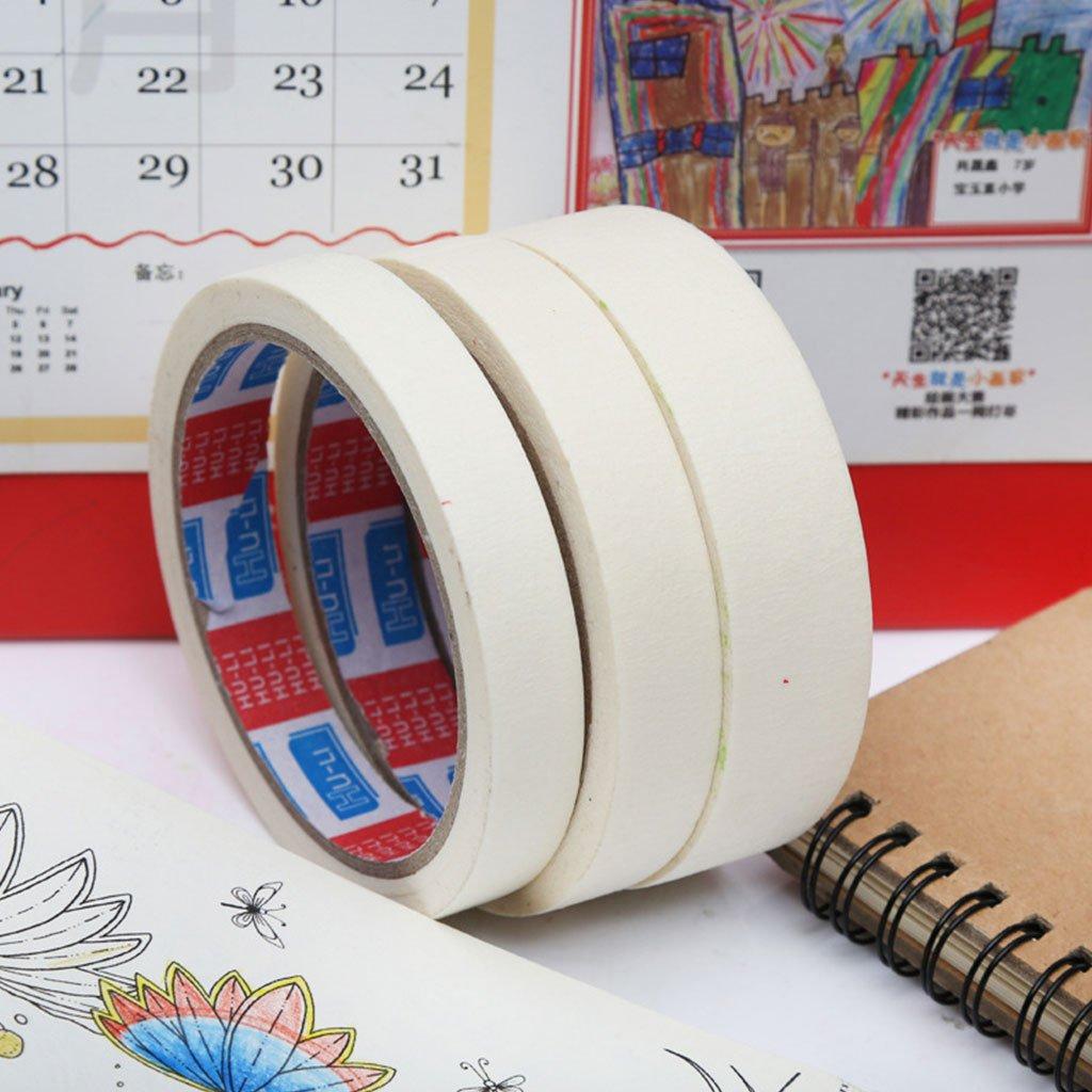 singolo lato da 18 mm Nastro adesivo in carta crespa per pittura a olio da 15//18//24 mm