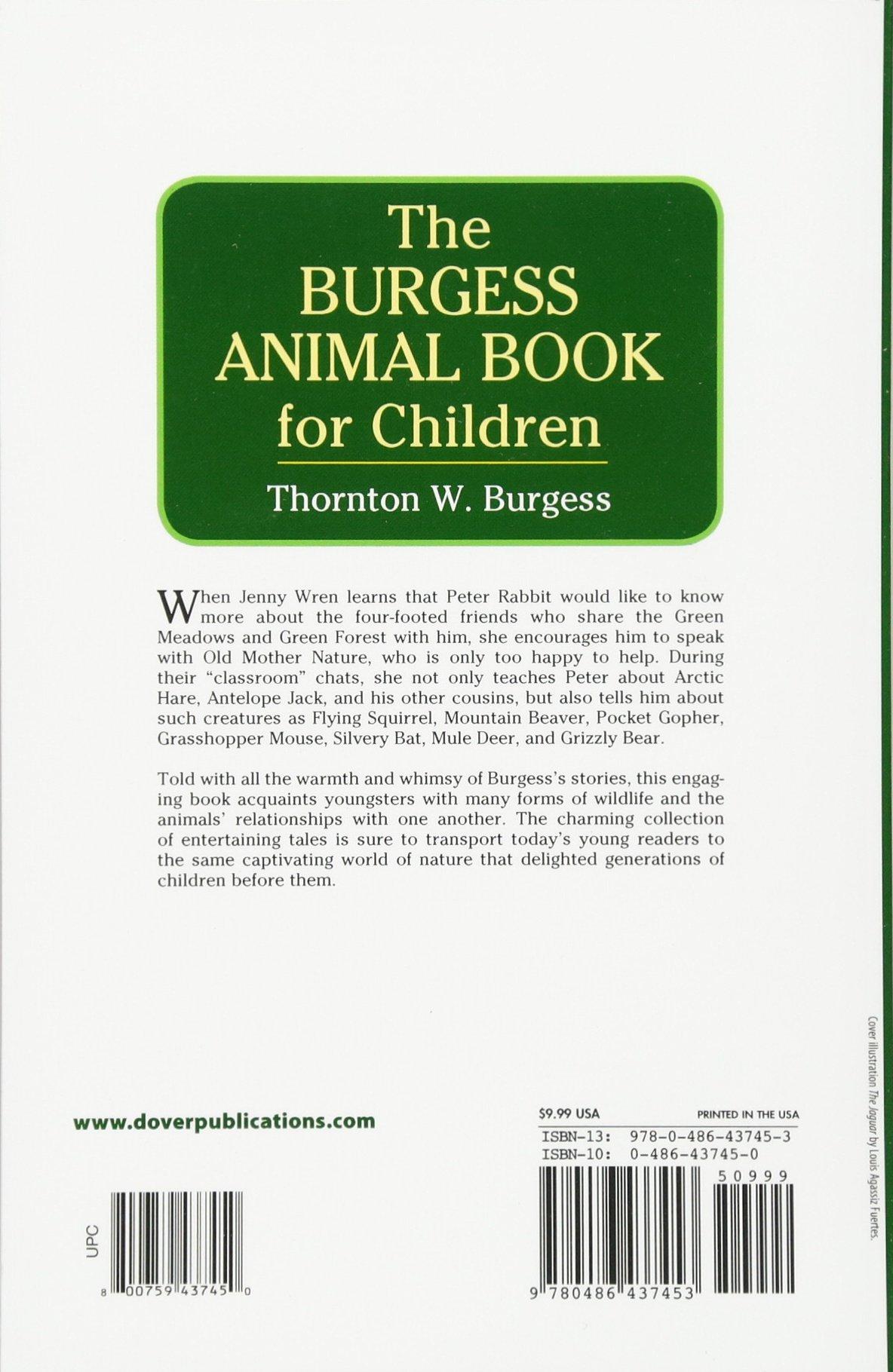 The Burgess Animal Book For Children Thornton W 9780486437453 Books