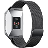 Fitbit Ionic Bands, BOCOL Stainless Steel Milanese Loop Metal Replacement Band with Unique Magnet Lock Accessories for Fitbit Ionic Smart Watch Small Large