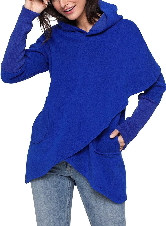 ZKESS SHIRT レディース B077BP1Q73 US8-10/Medium ブルー ブルー US8-10/Medium