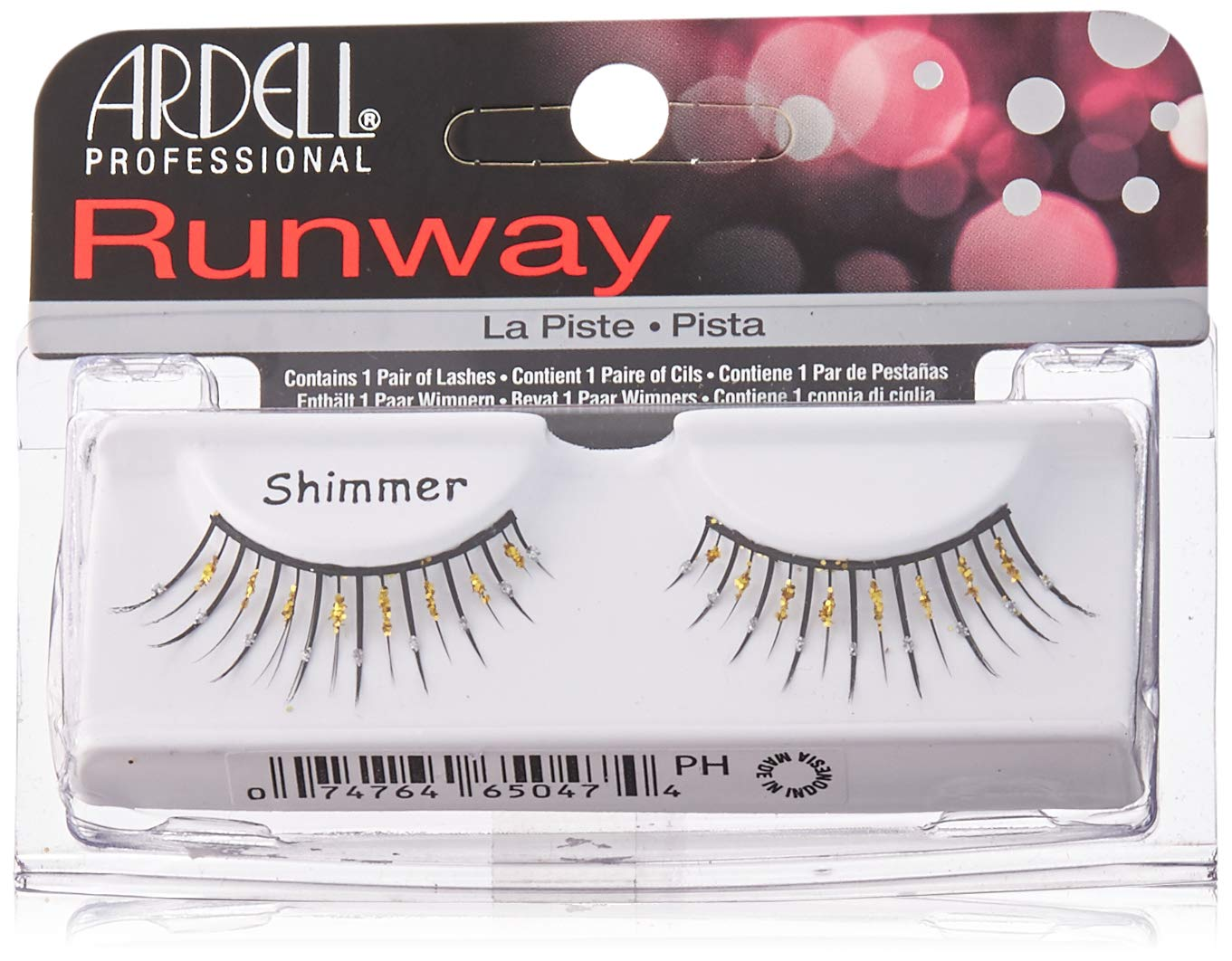 3a28d1bb046 Amazon.com : Ardell Runway-Thick Fake Eye Lashes, Shimmer-Black with Gold  Glitter : Fake Eyelashes And Adhesives : Beauty