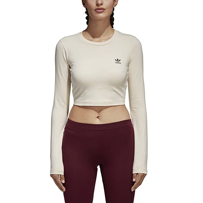 7a3fc458a7860d adidas Originals Women s Styling Compliments T-Shirt Cropped  Amazon ...