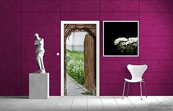 Autoadhesivas papel abierto las puerta tallados a mano de madera - 93 x 205 cm color-Calidad: limpiar, colores intensos, no deja hacer: Amazon.es: Juguetes y juegos
