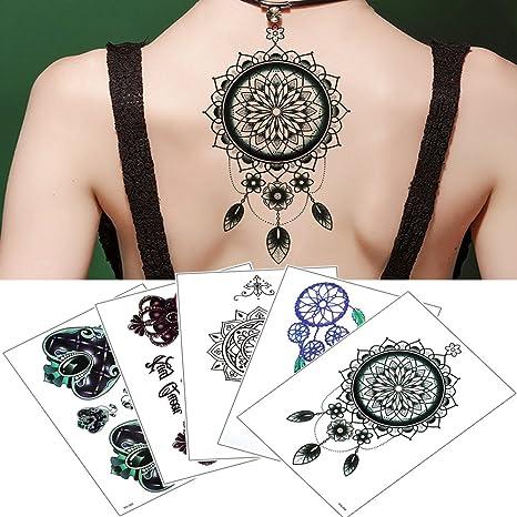 5 hojas adhesivo temporal tatuajes arte para Atrapasueños falsos ...