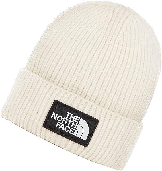 e0898928f1b THE NORTH FACE Logo Box Cuff Mens Beanie Vintage White One Size ...