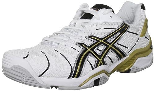 Asics Gel Resolution 4, Zapatillas de Tenis para Hombre, White/Black, 42 EU: Amazon.es: Zapatos y complementos