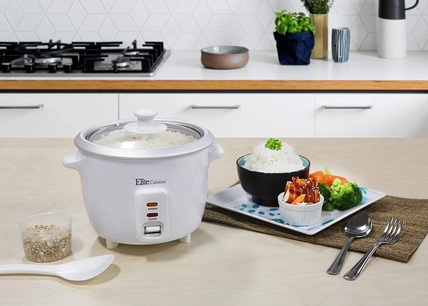 Elite Cuisine Electric Rice Cooker