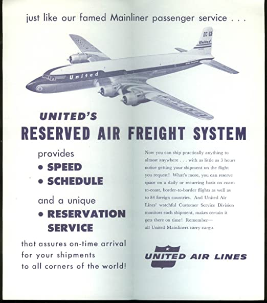 Amazon com: United Air Lines Reserved Air Freight airline
