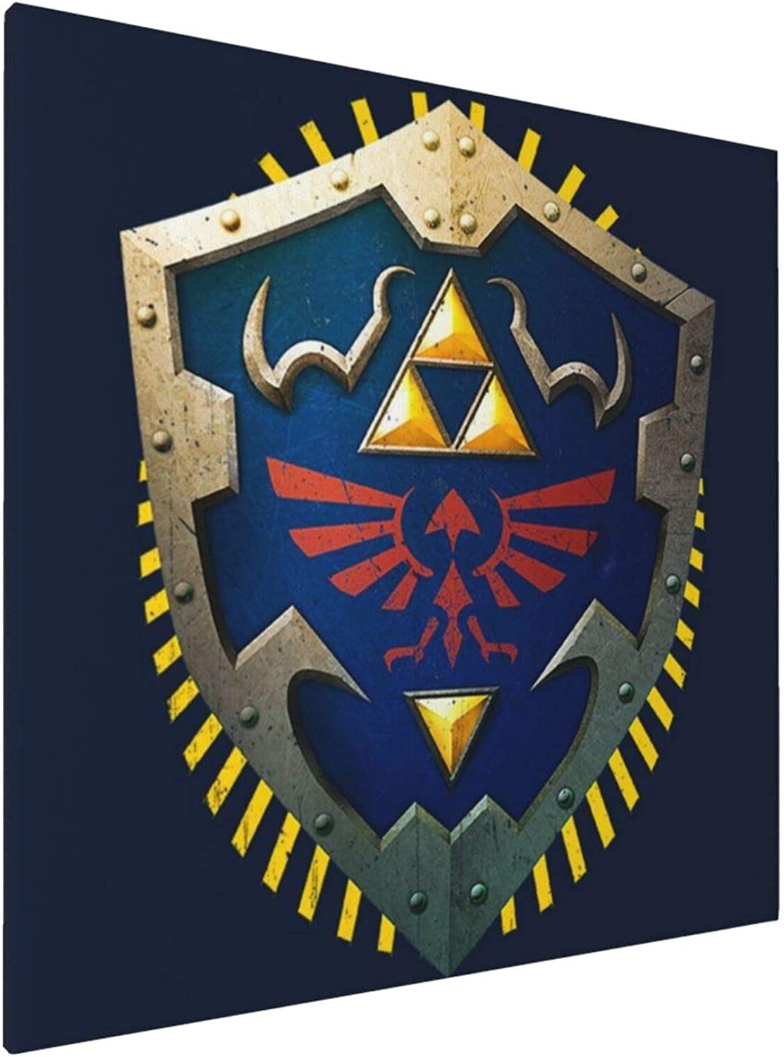 1007 Canvas Prints Wall Art Paintings(20x20in) Hylian Shield Legend of Zelda Triforce Pictures Home Office Decor Framed Posters & Prints