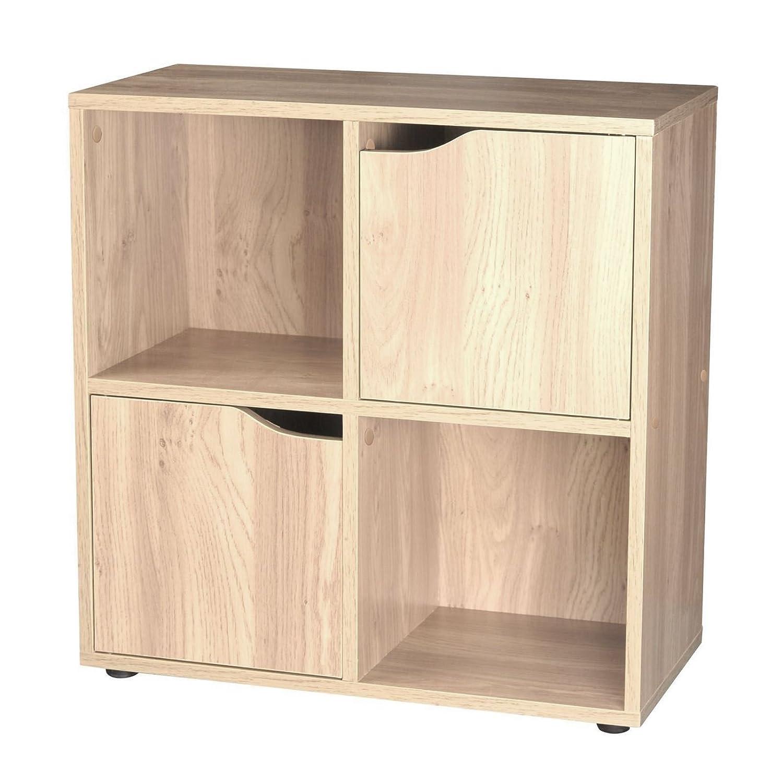 4 Cube 2 Doors Storage Unit - Oak Sabar