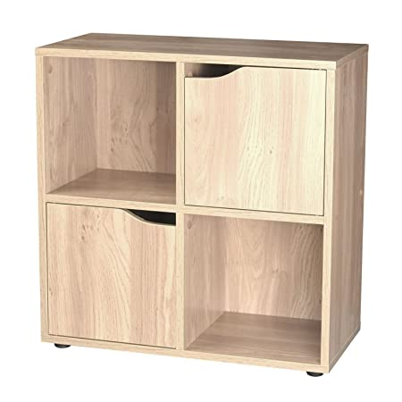 4 Cube 2 Doors Storage Unit   Oak